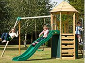 Wood swings and climbing frames