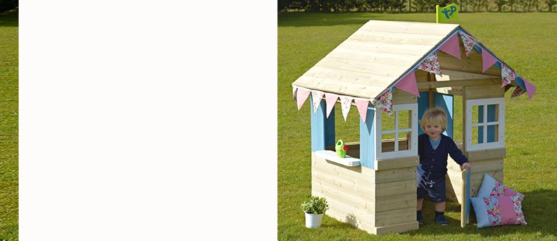 Exclusive to John Lewis - TP Toys Bramble Cottage Wooden Playhouse