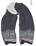 JOHN LEWIS & Co. Flake Fair Isle Scarf, Navy
