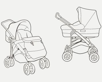 how to draw a baby stroller step by step