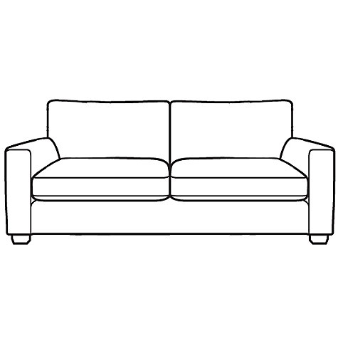Buy John Lewis Walton Large Sofa, Odney White Online at johnlewis.com