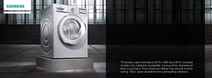 Save up to £100 when you trade in your old laundry appliance* and experience iSensoric. Siemens. The future moving in.