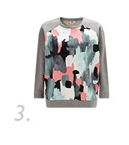 Brush Stroke Printed Sweatshirt