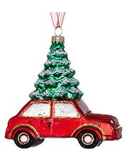 John Lewis Car with a Christmas Tree Glass Decoration