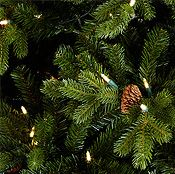 John Lewis Pre-lit Forest Pine Christmas Tree, Green, 7.5ft