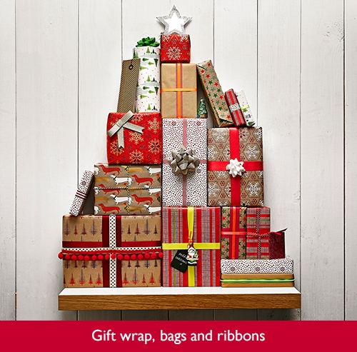 Gift wrap, bags and ribbons