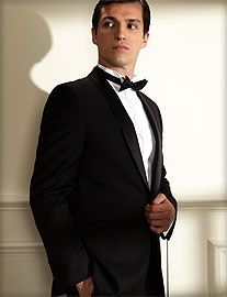Men's black tie dress