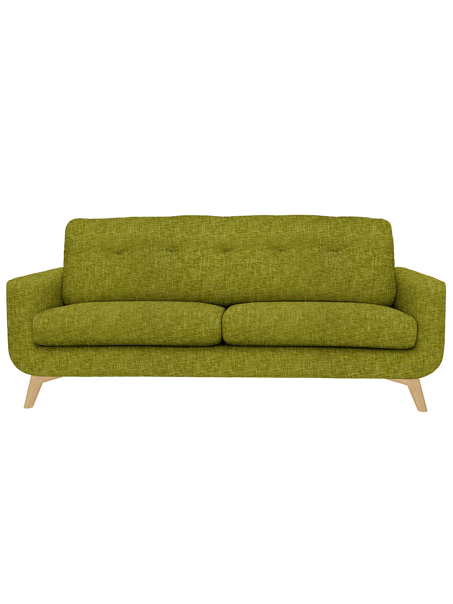 Buy John Lewis Barbican Large Sofa with Light Legs, Henley Olive Online at johnlewis.com
