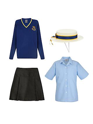 St Michael's Church of England Preparatory School Girls' Years 5 - 6 Summer Uniform