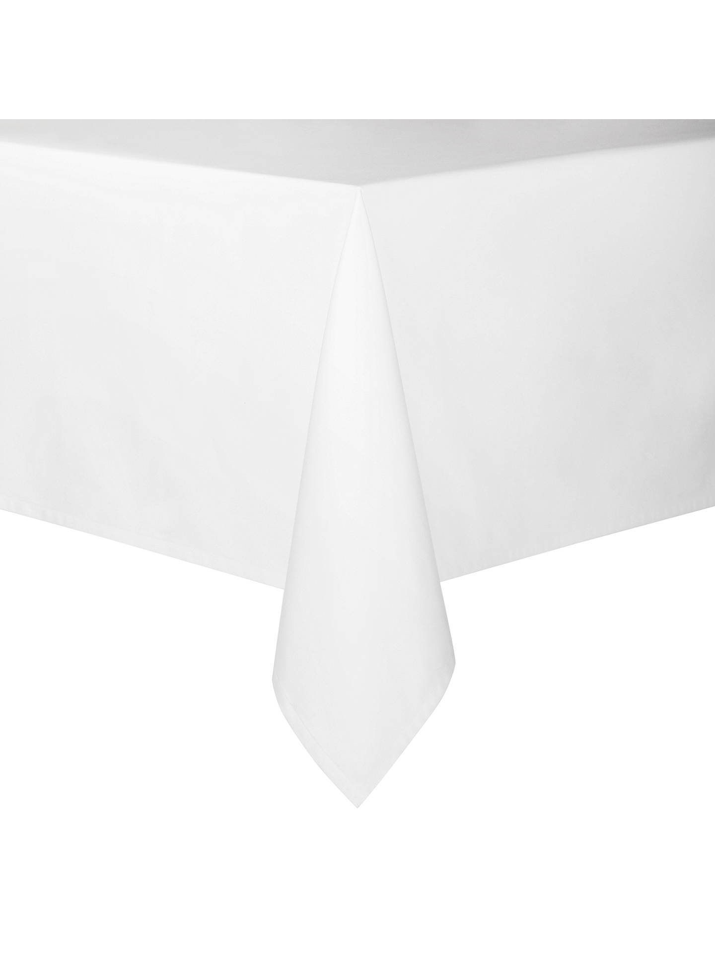 Available in a range of sizes White Rectangular Tablecloth