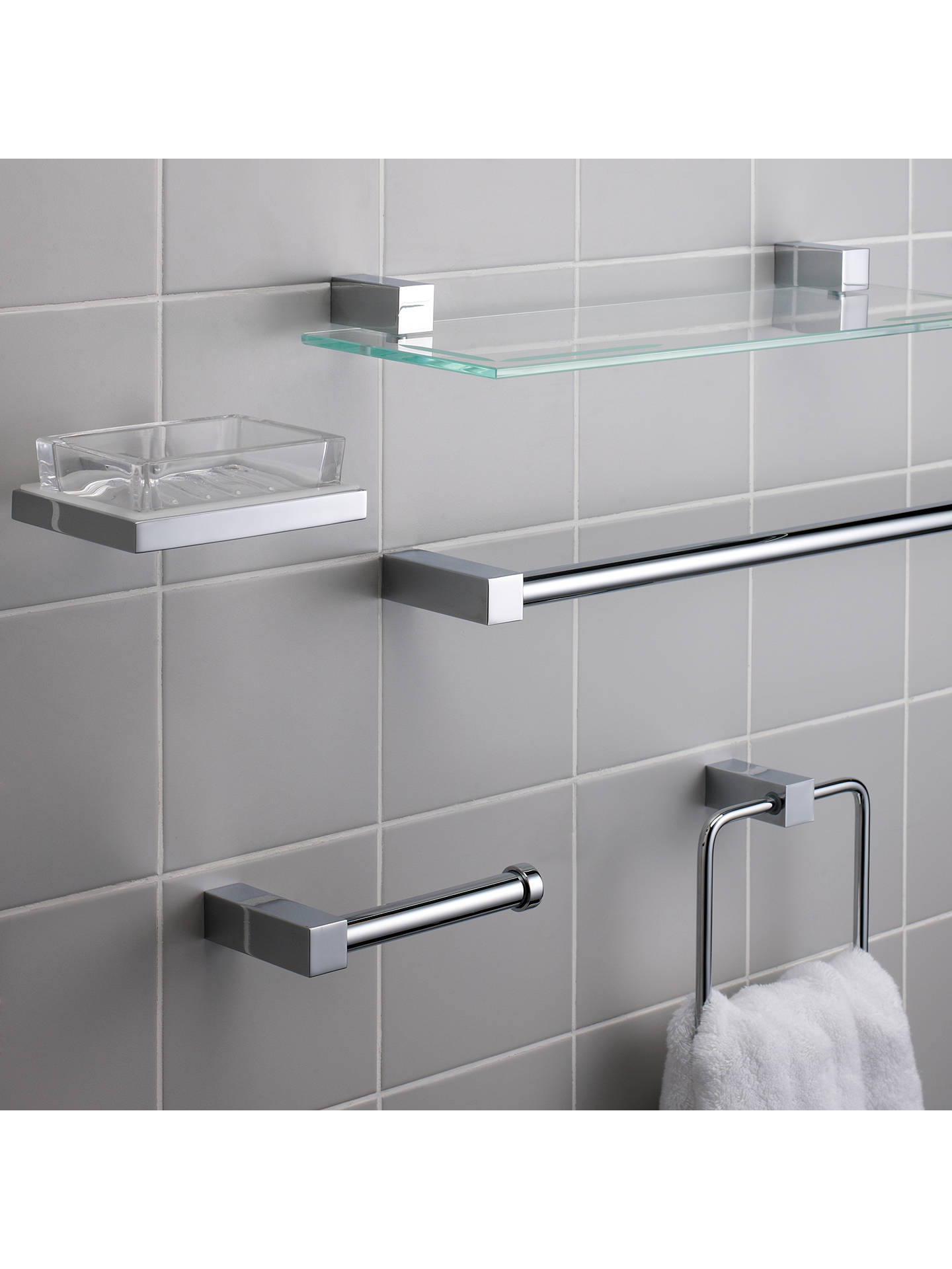 Buy John Lewis & Partners Ice Single Towel Rail Online at johnlewis.com