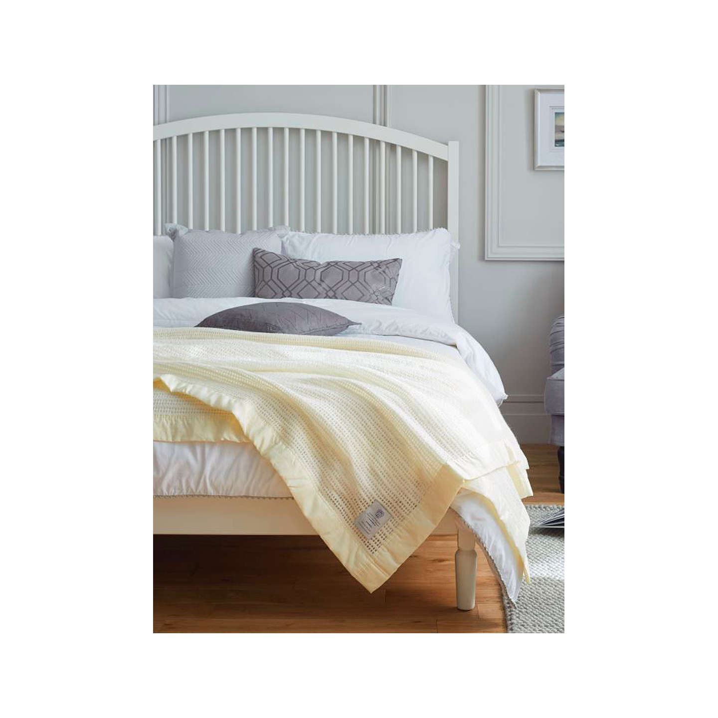 BuyJohn Atkinson by Hainsworth Monarch Pure Wool Blanket, Cream, Double Online at johnlewis.com
