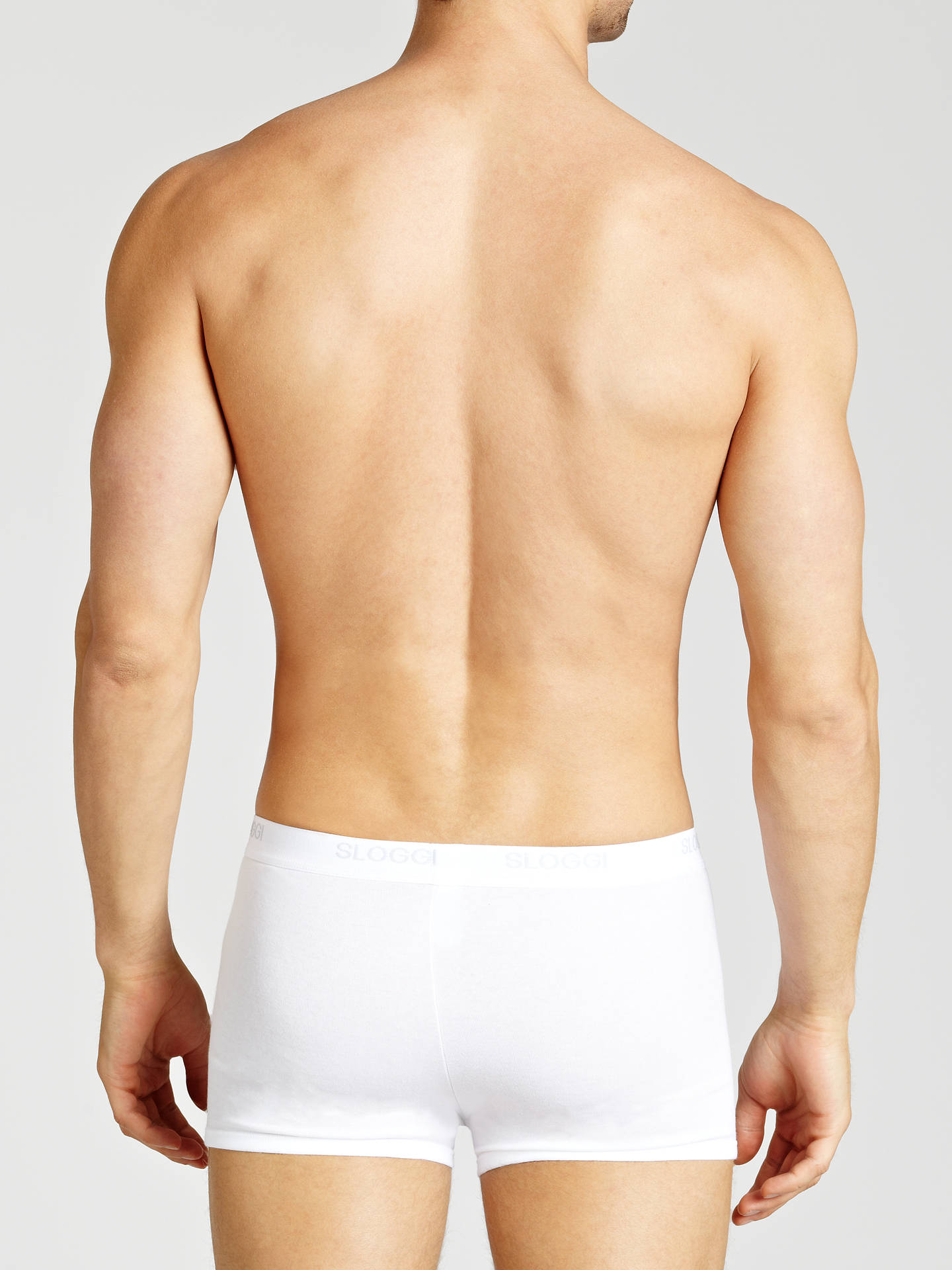 Buy Sloggi Basic Trunks, Pack of 2, White, S Online at johnlewis.com