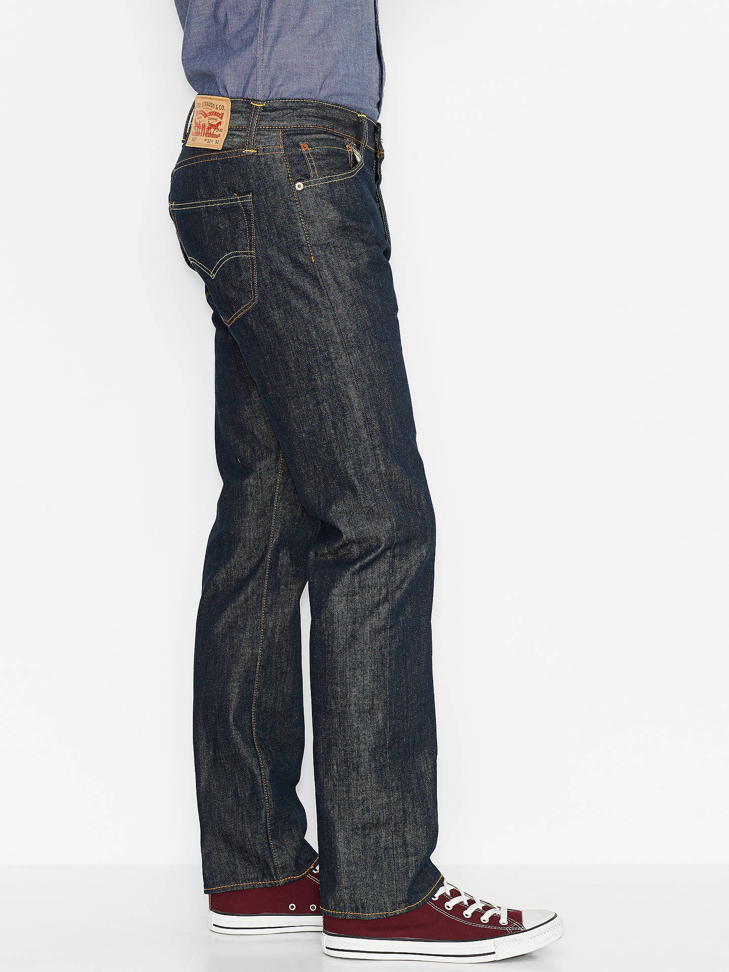BuyLevi's 501 Original Straight Jeans, Marlon, 30S Online at johnlewis.com