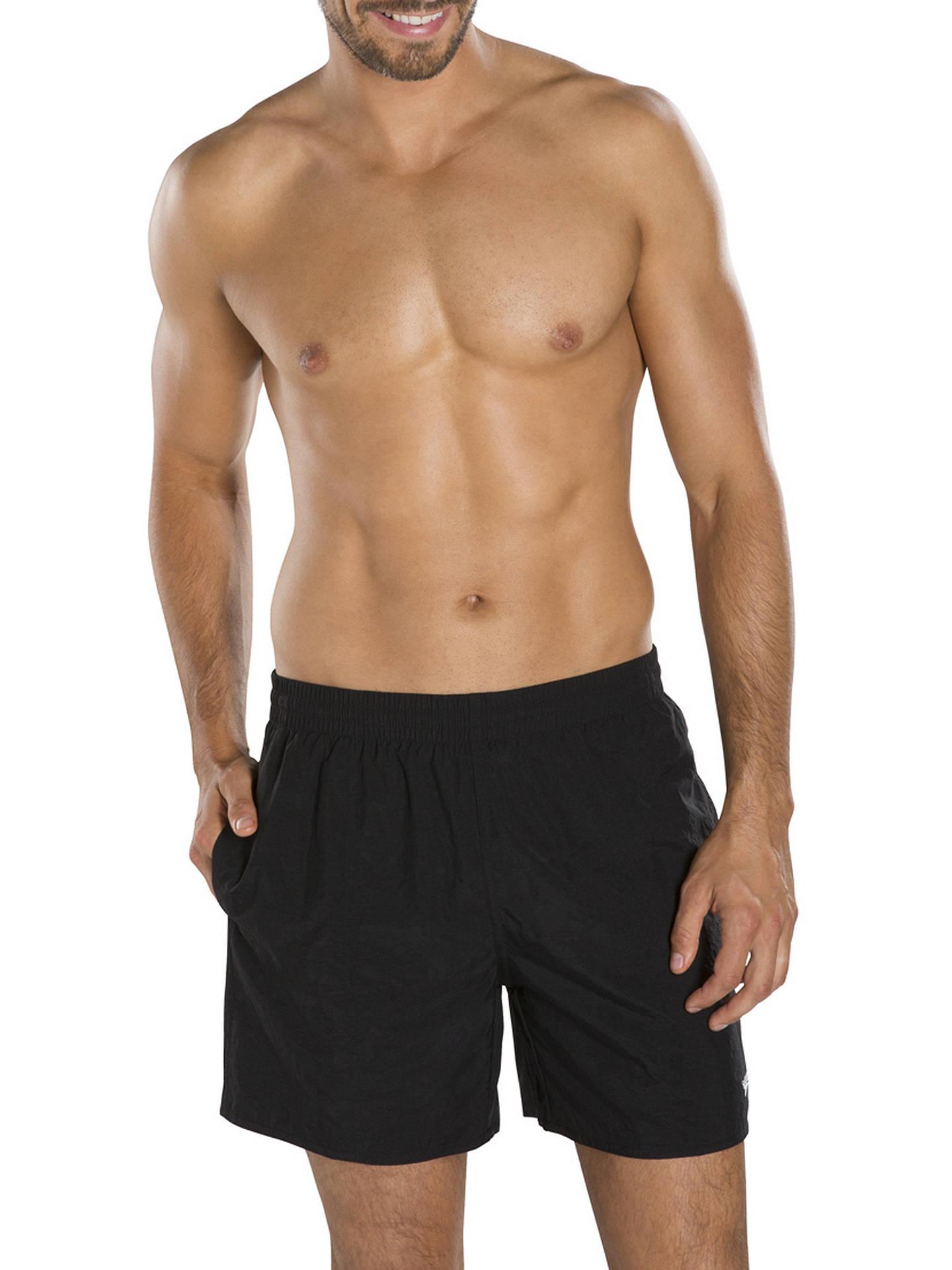 8e18e9703c8f5 Buy Speedo Solid Watershort Swim Shorts, Black, M Online at johnlewis.com  ...