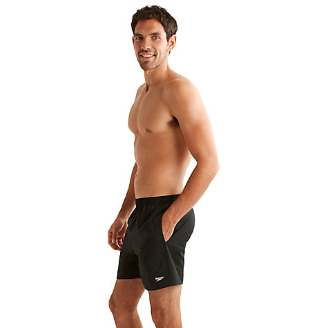 Buy Speedo Solid Watershort Swim Shorts, Black Online at johnlewis.com