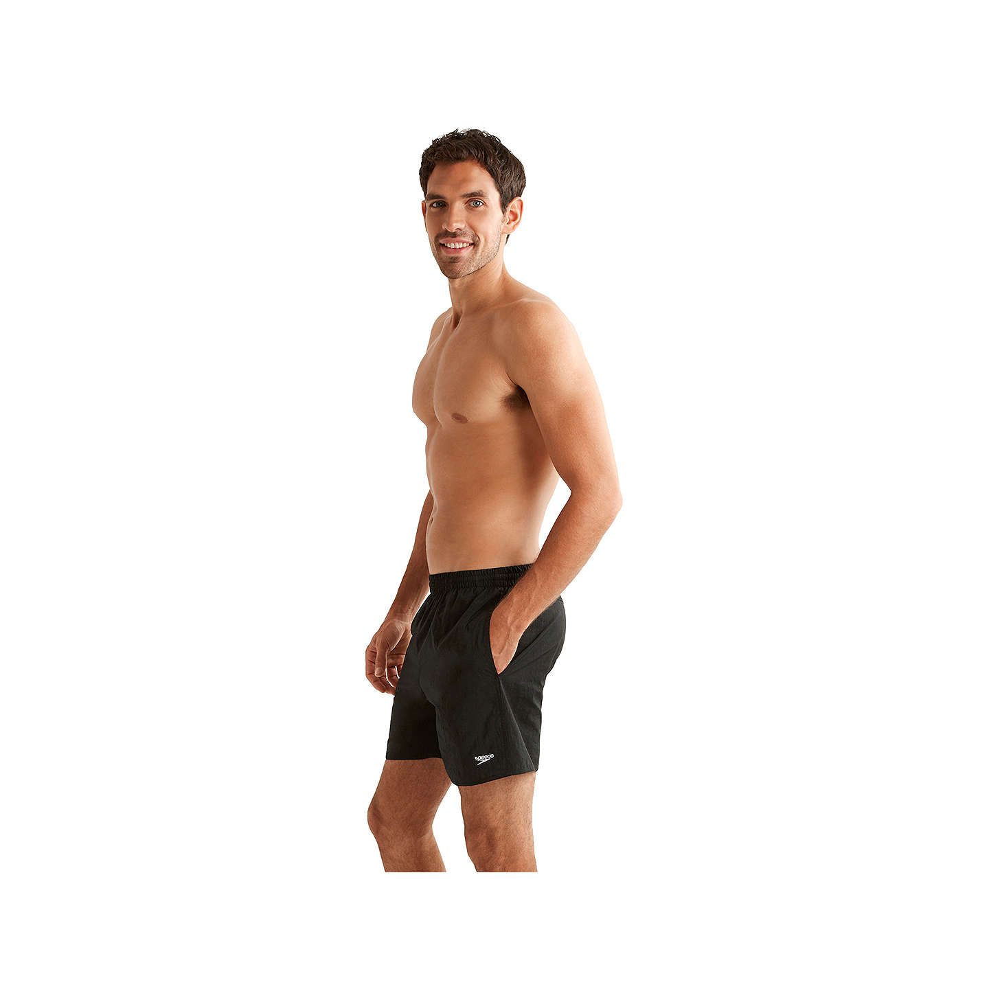 BuySpeedo Solid Watershort Swim Shorts, Black, M Online at johnlewis.com