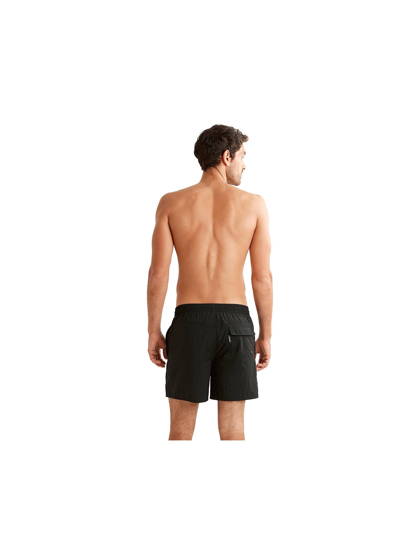 b73937472a0fd ... Buy Speedo Solid Watershort Swim Shorts, Black, M Online at  johnlewis.com ...