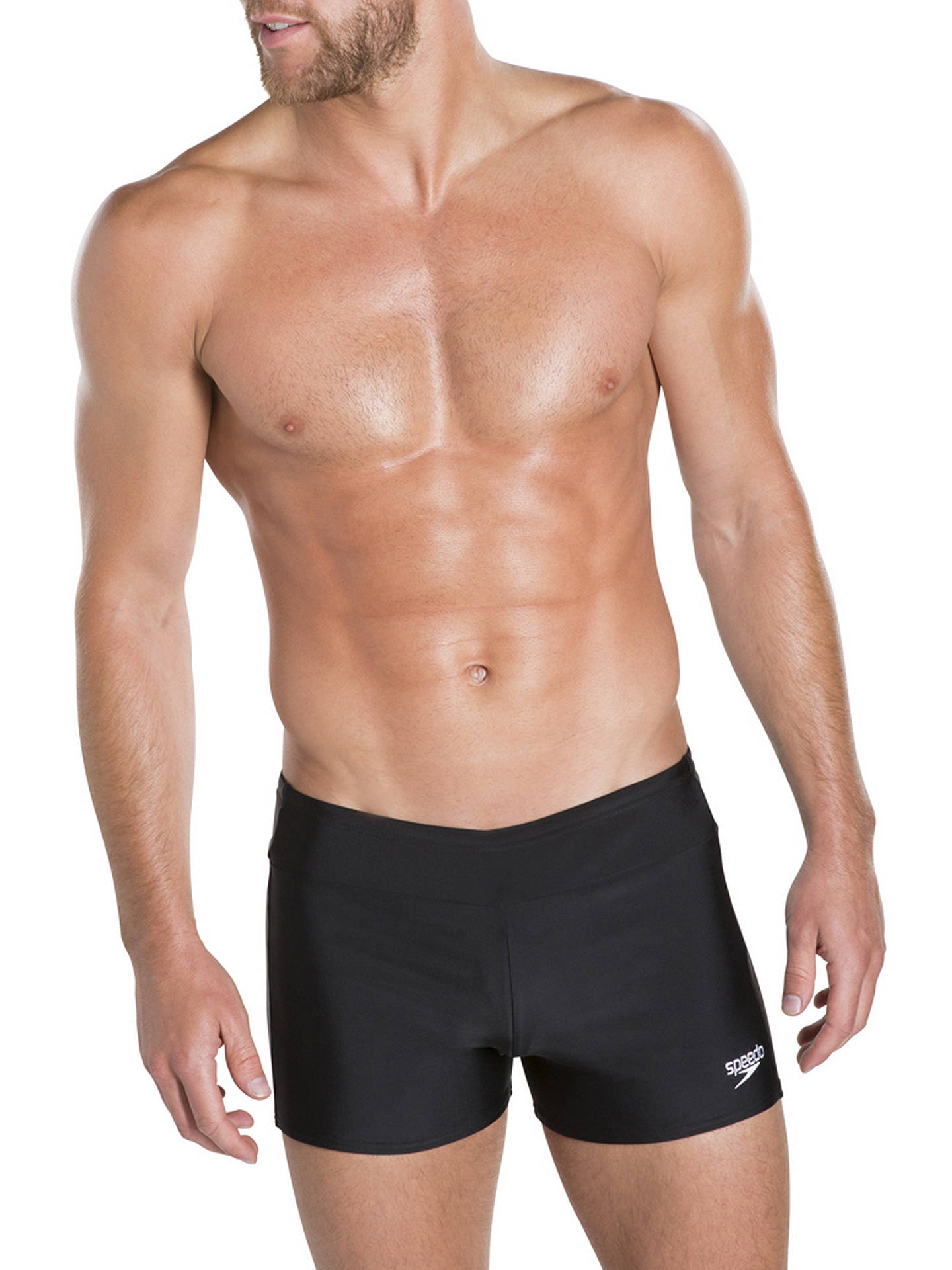 5c4f88cc5b2c7 Buy Speedo Houston Aquashort Swim Shorts, Black, 32 Online at johnlewis.com  ...