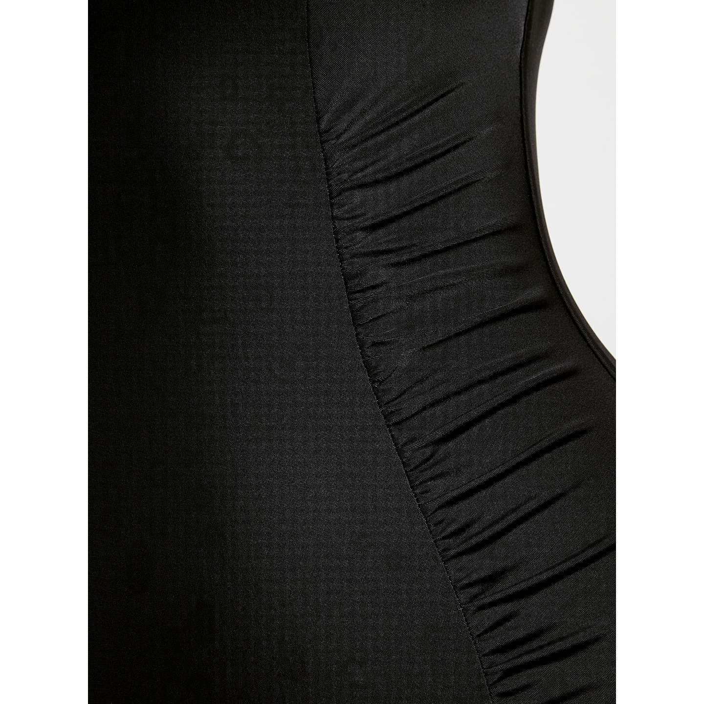 BuyJohn Lewis Control Side Ruched Swimsuit, Black, 10 Online at johnlewis.com