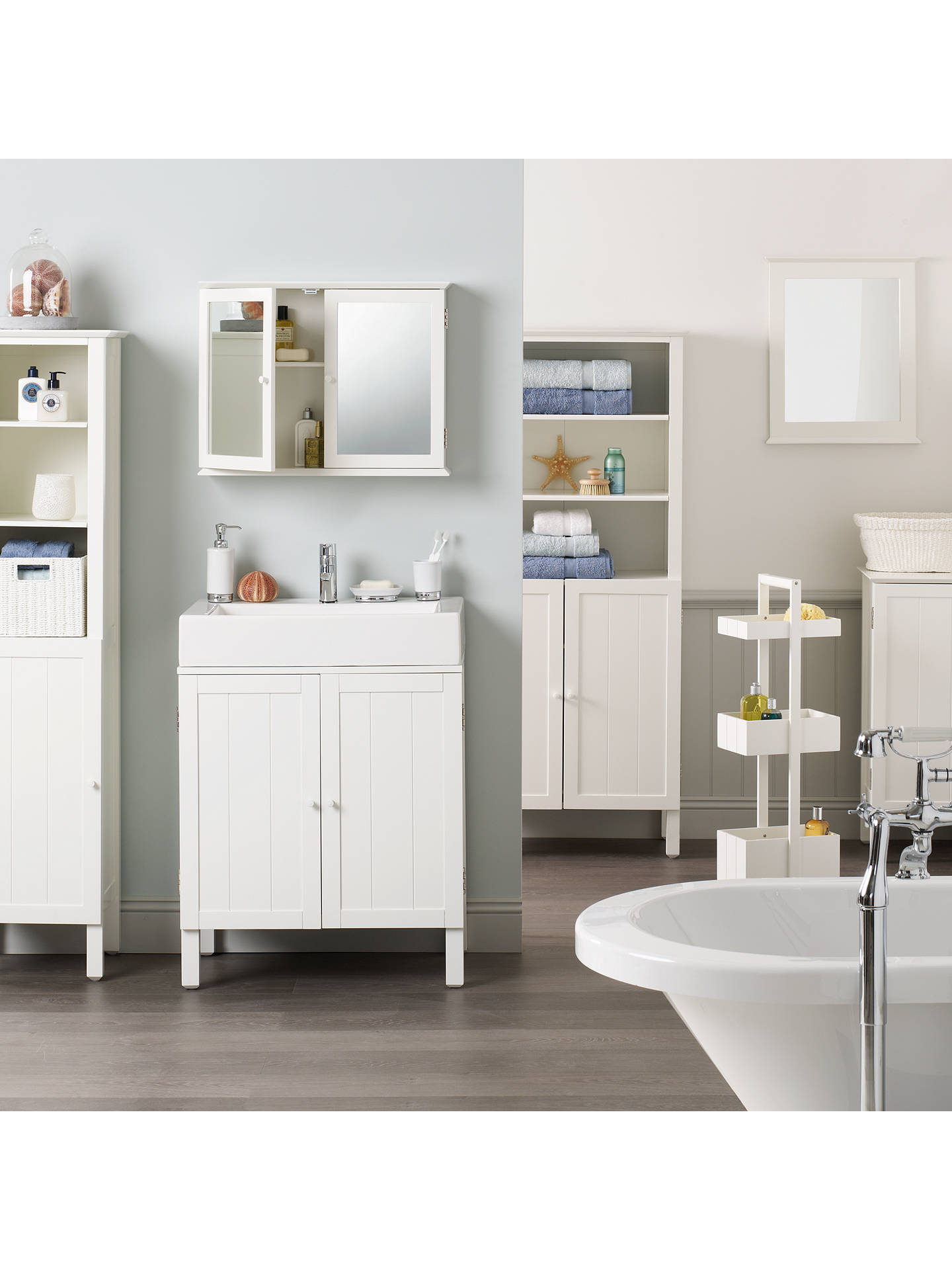 John Lewis & Partners St Ives Double Mirrored Bathroom Cabinet