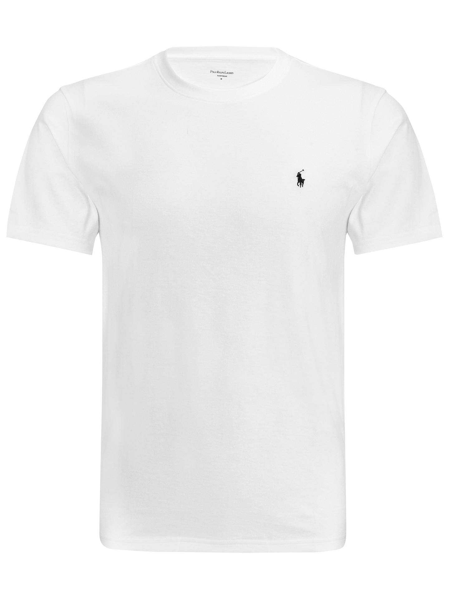 af5baaabad ... Buy Polo Ralph Lauren Crew Neck Lounge T-Shirt, White, M Online at ...