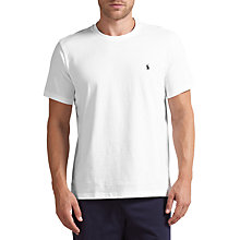 Buy Polo Ralph Lauren Crew Neck Lounge T-Shirt, White Online at johnlewis.com
