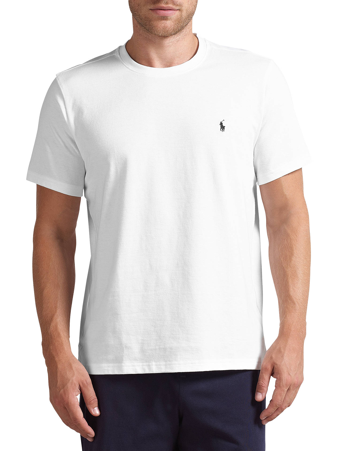 81b46ada Buy Polo Ralph Lauren Crew Neck Lounge T-Shirt, White, M Online at ...
