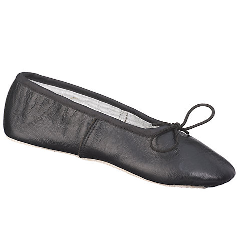 Buy John Lewis Leather Ballet Shoes, Black Online at johnlewis.com