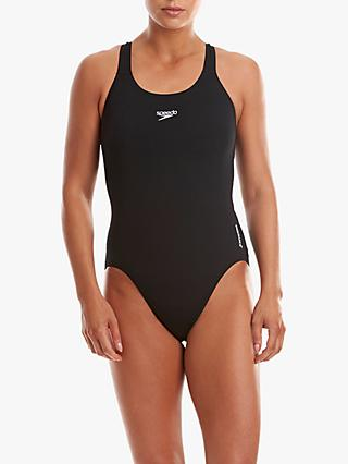 Speedo Endurance+ Medalist Swimsuit, Black
