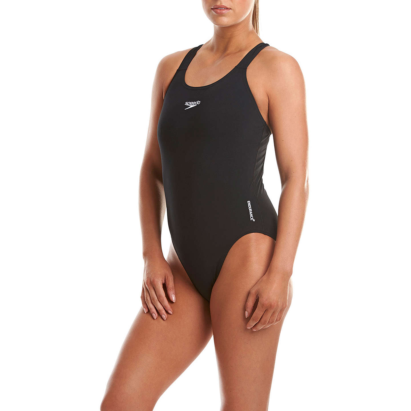 BuySpeedo Endurance+ Medalist Swimsuit, Black, 34 Online at johnlewis.com