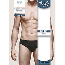 Buy Sloggi Mens Mini Briefs, Pack of 2 Online at johnlewis.com