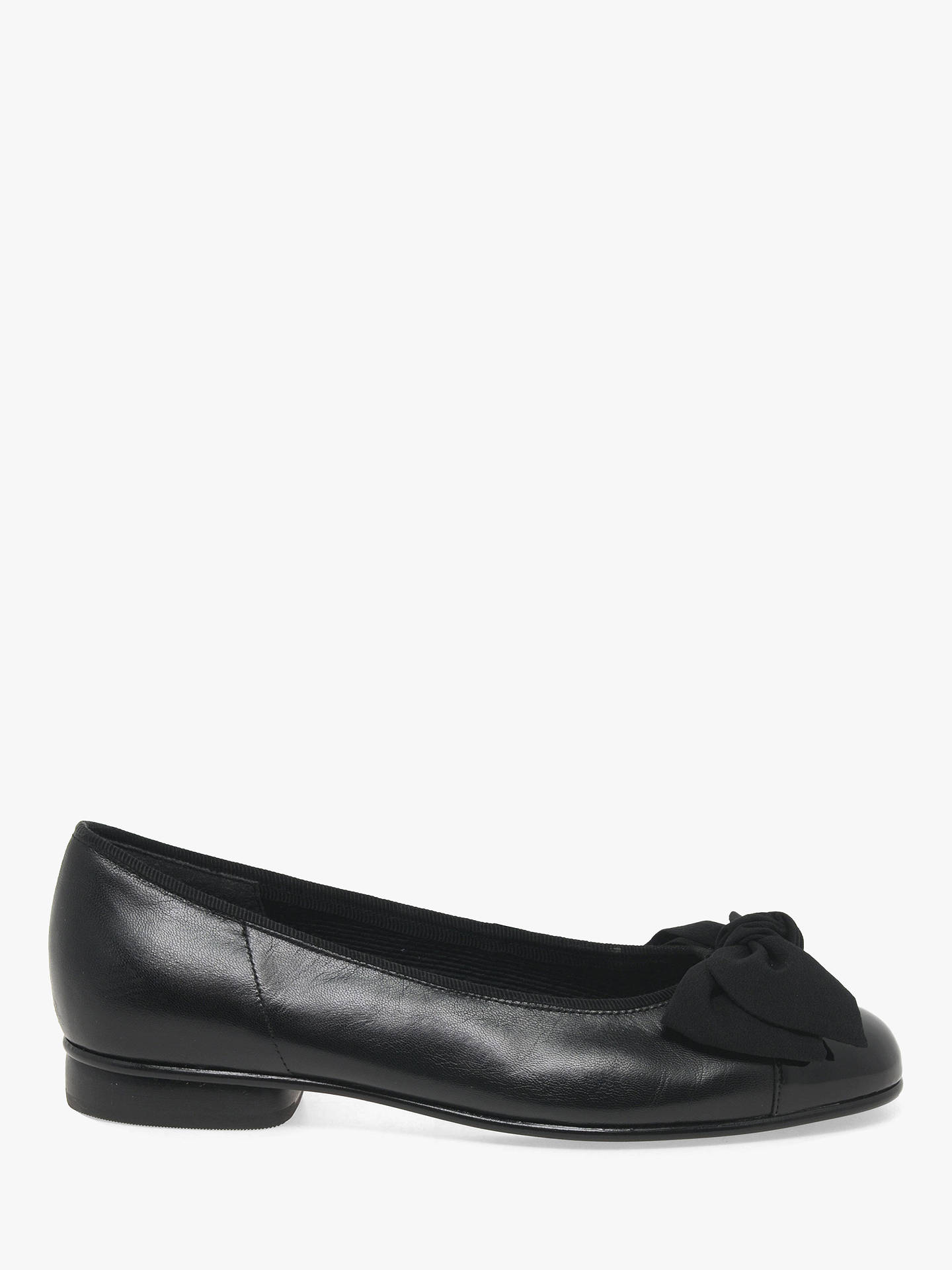 42daaa7fb5905 Buy Gabor Amy Ballet Patent Pumps, Black Leather, 3 Online at johnlewis.com  ...