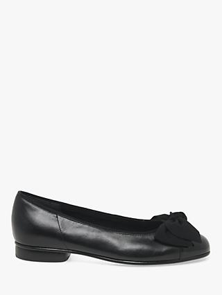 Gabor Amy Ballet Patent Pumps, Black Leather