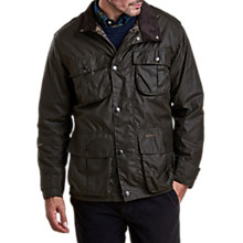 Buy Barbour Trooper Wax Jacket, Olive Online at johnlewis.com