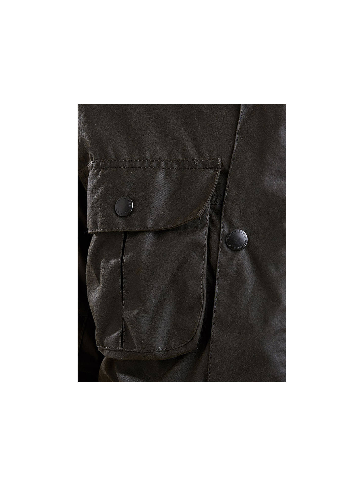 5a5499b618044 ... Buy Barbour Trooper Wax Jacket, Olive, S Online at johnlewis.com ...
