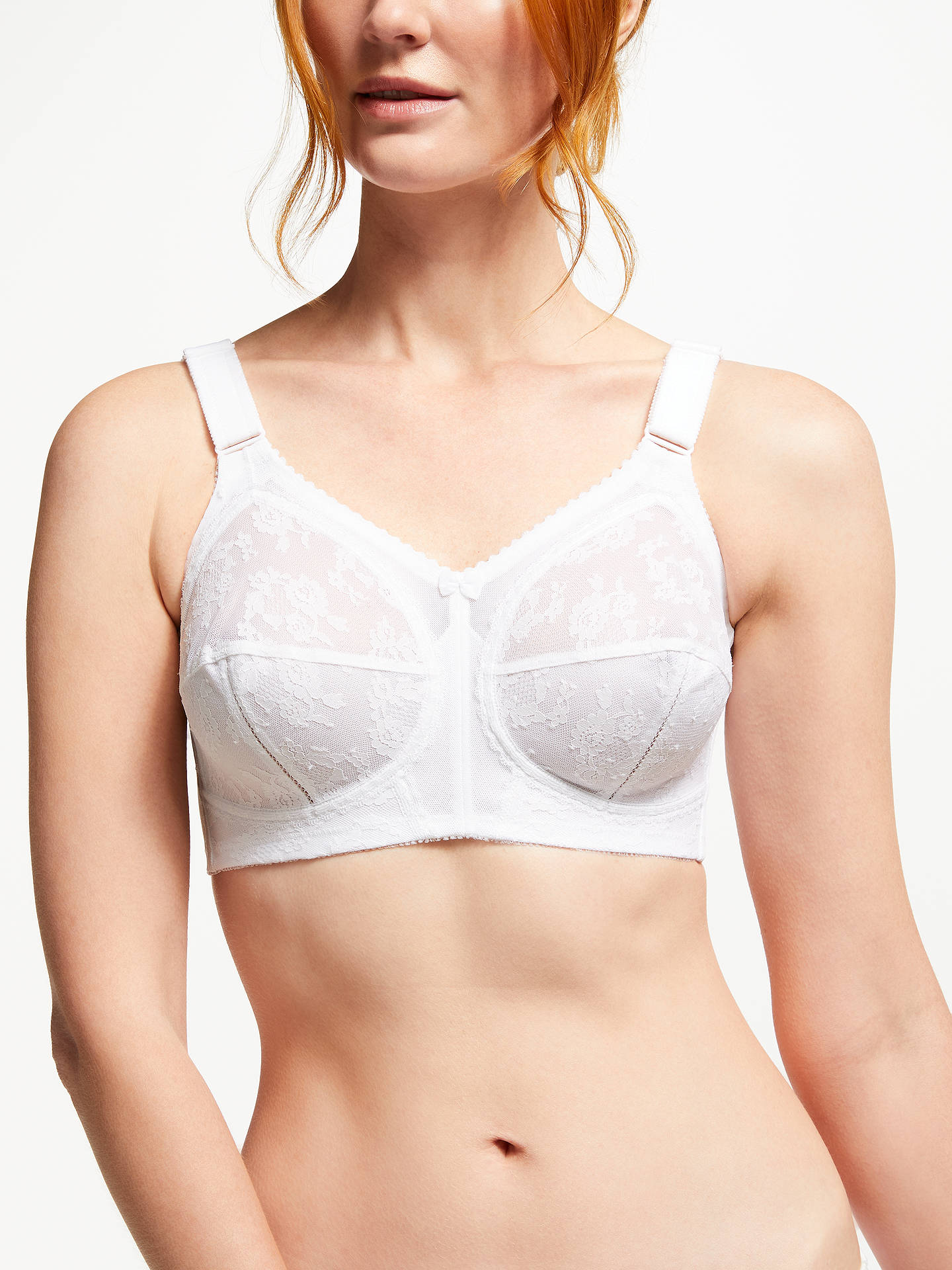 BuyTriumph Doreen Non Wired Bra, White, 34B Online at johnlewis.com