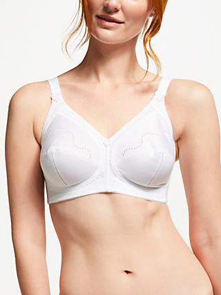 Triumph Doreen Cotton Non Wired Bra, White