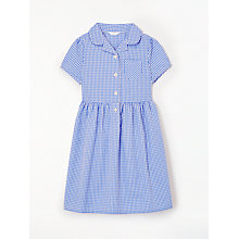Buy John Lewis School Belted Gingham Checked Summer Dress, Blue Online at johnlewis.com