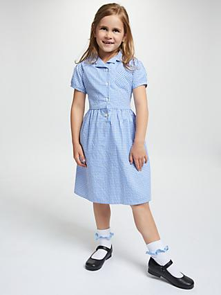 fd44715dd08 John Lewis   Partners School Belted Gingham Checked Summer Dress