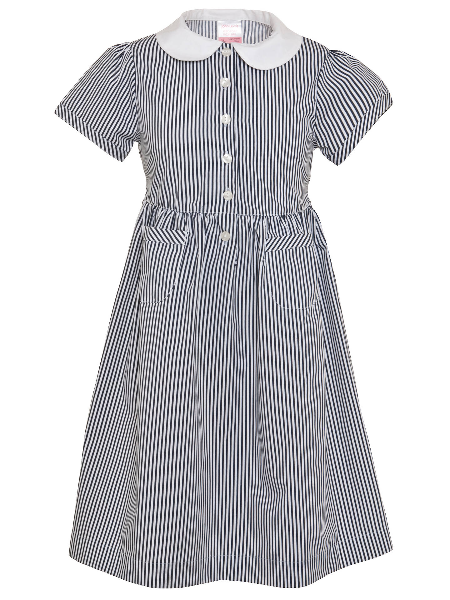 BuyJohn Lewis School Striped Summer Dress, Navy, 3 years Online at johnlewis.com