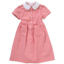 Buy John Lewis School Striped Summer Dress, Red Online at johnlewis.com