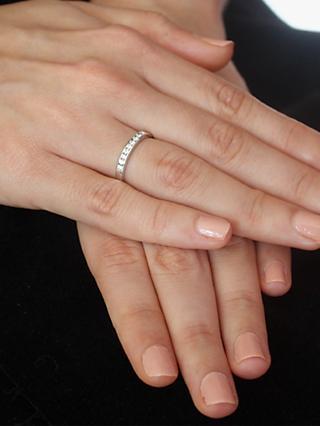 eeea532c6 E.W Adams 18ct Gold Diamond Half Eternity Ring, White Gold