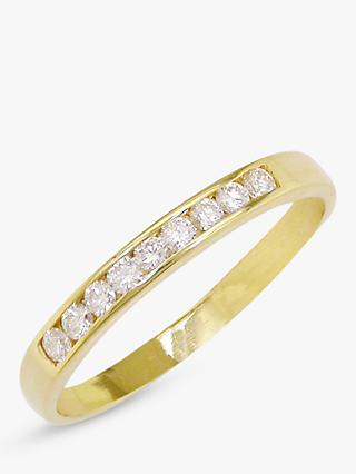 E.W Adams 18ct Gold 0.18ct Diamond Half Eternity Ring, Yellow Gold