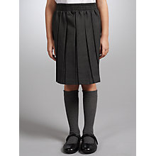 Buy John Lewis Girls' Pleated School Skirt, Grey Online at johnlewis.com