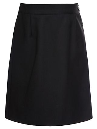 Girls' School Wool Mix Pencil Skirt, Black
