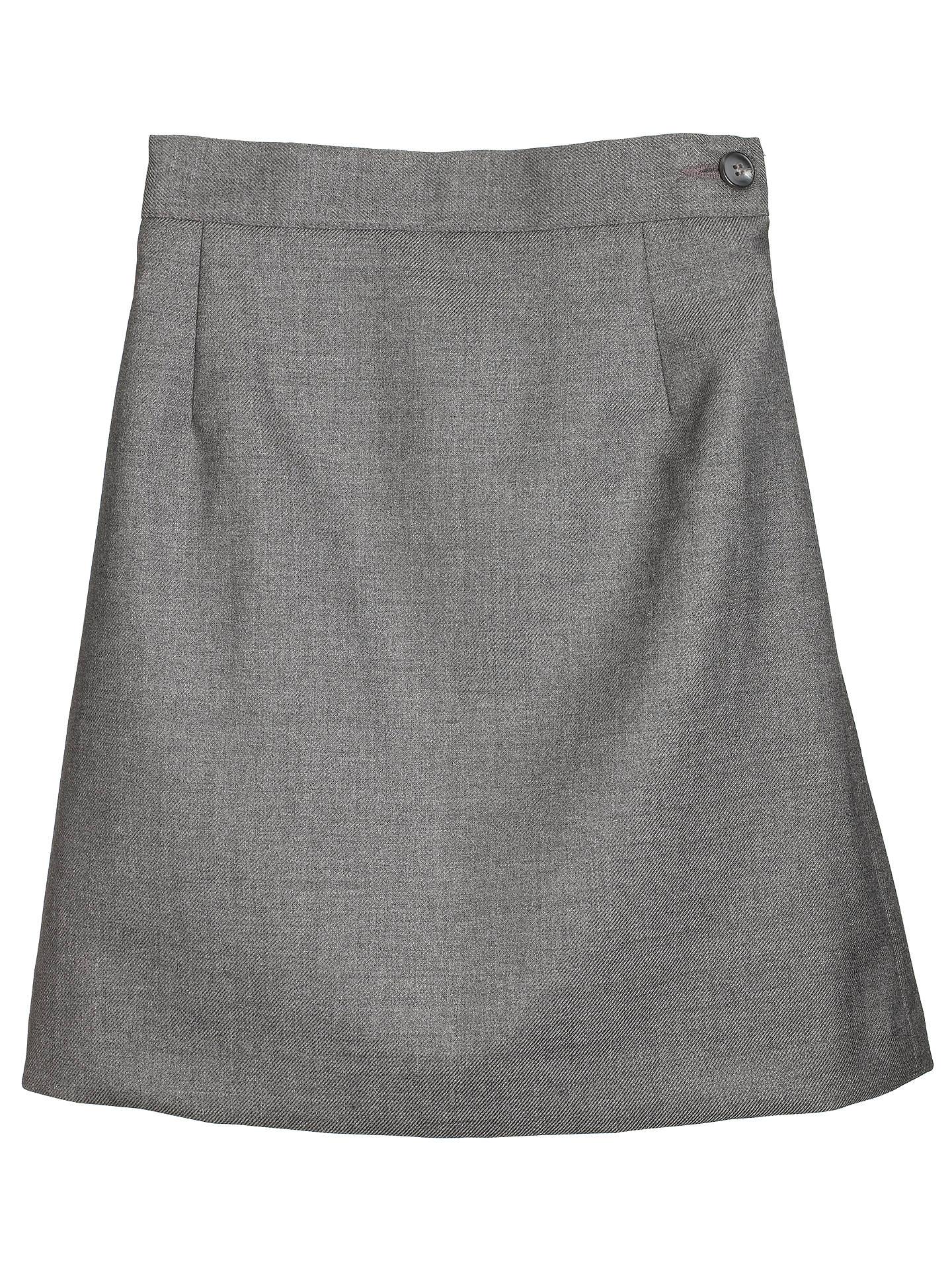 6411855f64f23 Girls' School Wool Mix Pencil Skirt, Grey at John Lewis & Partners