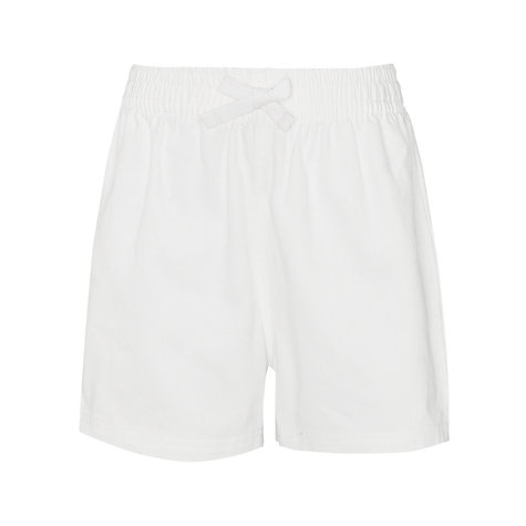 Buy John Lewis Cotton PE Shorts, Black Online at johnlewis.com
