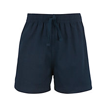 Buy John Lewis Cotton PE Shorts, Navy Online at johnlewis.com