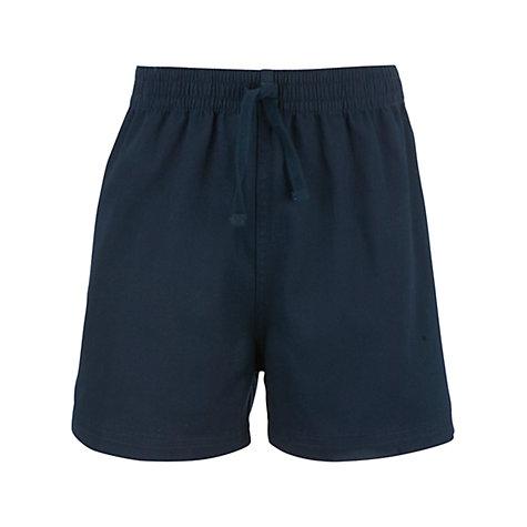 Buy John Lewis Cotton PE Shorts, Navy | John Lewis